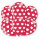 6 latex balloons hearts