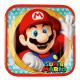 8 Tányér Super Mario, tér 23 x 23 cm