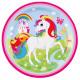 8 plate unicorn, 23cm