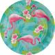 8 Talerz Flamingo Paradise 23cm