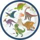 8 plate Happy Dinosaur 18cm