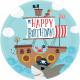 8 plate Ahoy Birthday 23 cm