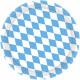8th plate Bavaria paper round light blue 22.8 cm