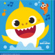 16 servilletas Baby Shark 33 x 33 cm