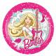 8 Tányér Barbie popsztár 23 cm