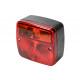 Trailer rear lamp square e-mark