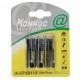 Batterij mini penlite 4 stuks r3 aaa KONNOC