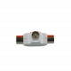 Coax splitter t plastic mâle wr007-1