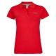 Ladies Basic Polo Short Sleeve uni, red, 95% Cotto