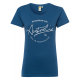 Ladies Roadsign T-Shirt round Roadsign , blue, siz