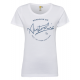 Ladies Roadsign T-Shirt round Roadsign , white, si