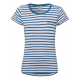 Ladies T-Shirt striped, blue / white, size L