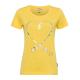 Ladies print shirt Heart, yellow