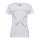 Ladies print shirt Heart, white