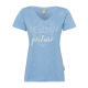 Ladies Print T-Shirt Catch the moment, light blue