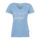 Damen Print T-Shirt Catch the Moment, hellblau