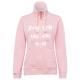 Ladies sweat jacket, rose