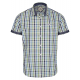 Men's short sleeve shirt checked
