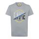 Herren T-Shirt Life, grau, Rundhals
