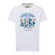 Men's T-Shirt Gold Coast, white, round neck