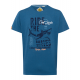 Herren T-Shirt Ride the Waves, blau