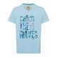 Herren T-Shirt Catch the Waves, hellblau