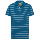 Men's polo shirt stripes, light blue / blue