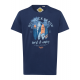 Men's T-Shirt Red Rock Beach, navy, round neck