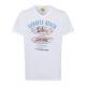 Męska T-Shirt Sunrise Beach, biała, dekolt w szpic