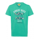 Herren T-Shirt Sunrise Beach, grün, V-Neck