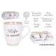 set of 6 coffee cut cups 200ccm old letter