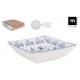 set of 6 bowls 18x18cm blur elite shine