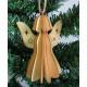 Decoupage Christmas pendant 3d angel 8,5x2,5