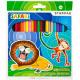 24 ceruzakréta szafari színekben