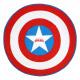 Avengers - toalla redonda de capitan america, roja