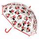 Minnie - manuale ombrello rosso, rosso