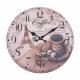 Wall Clock - Koffie, Ø: 34 cm