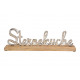 Display Lettering STAR KITCHEN made of metal on ma