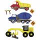 Deco sticker: construction vehicles, 6 pieces