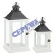 "Lantern ""Basic"", set of 2, white"