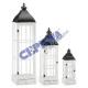 "Lantern ""classic"", set of 3, white"