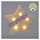 LED wood star, 5 LED, 13.5cm