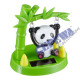 Solar wiggle panda on swing, about 9cmH