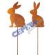 Gartenstecker rabbit, rusty, 2 / s, L, ca.73cmH