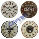 Wall clock, coffee, 4 / s, about 28 cmD