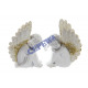 Angel, white with gold glitter, 2 / s, S, approx.