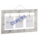 Picture frame 'Leash', white / brown, for