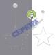 Estrella LED para colgar, unos 40cmB.