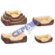* ADVERTISEMENT * Dog bed, velcro, set of 3, brown