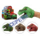 Hand puppet DINO, 4 / s, approx.12cmH